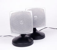 Speakers. Desktop Speakers 2.1 surround.. sound related material royalty free stock images