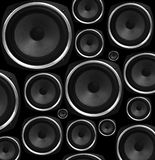 Speakers abstract background Stock Image