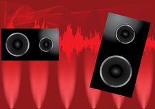 Speakers abstract poster Stock Images