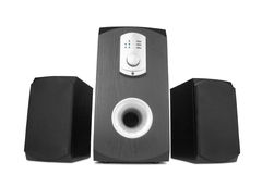Speakers with amplifier Royalty Free Stock Images