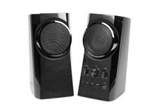 Speakers. Beautiful shot of speakers on white background stock image