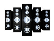 Speakers - Black 1 Stock Photography