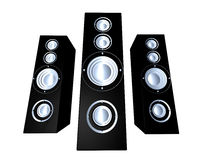 Speakers - Black 2 Royalty Free Stock Image