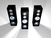 Speakers - Black 3 Royalty Free Stock Photography