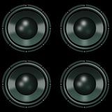 Speakers on a black background Stock Image
