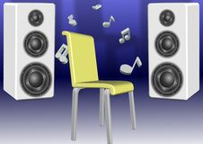 Speakers and a chair Royalty Free Stock Image