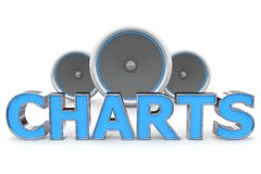 Speakers Charts - Blue Stock Photography