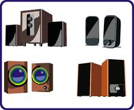 Speakers collections Stock Images