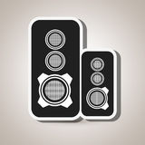 Speakers columns isolated design Royalty Free Stock Photos