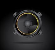 Speakers. Design over black background vector illustration Stock Photography