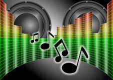 Speakers and equalizer Royalty Free Stock Images