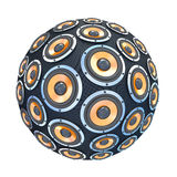 Speakers in form of sphere isolated Royalty Free Stock Photos