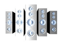 Speakers - Futuristic metal Stock Photos