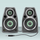Speakers with hexagon mesh front Royalty Free Stock Photo