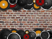 Speakers On Horizontal Wall Royalty Free Stock Photos