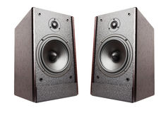 Speakers isolated Royalty Free Stock Image