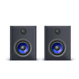 Speakers isolated on white Stock Image