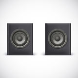 Speakers isolated on white Royalty Free Stock Images