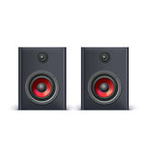 Speakers isolated on white Royalty Free Stock Photo