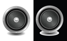 Speakers isolated on white and black Royalty Free Stock Photography
