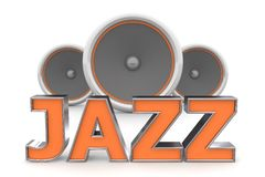 Speakers Jazz � Orange Stock Images