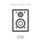 Speakers. Linear  icon. Stock Image