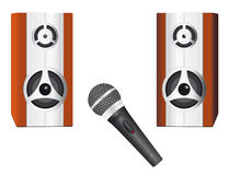Speakers and microphone Royalty Free Stock Photography