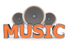 Free Speakers Music - Orange Stock Photo - 9609870