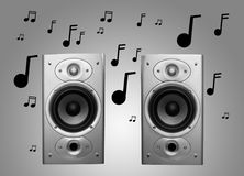 Speakers and music Royalty Free Stock Photo