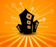 Speakers on orange background. Royalty Free Stock Photos