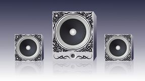 Speakers with pattern Stock Photos