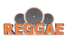 Speakers Reggae � Orange Stock Photos