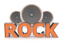 Speakers Rock � Orange Royalty Free Stock Photo