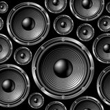 Speakers seamless background. Royalty Free Stock Photos