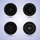 Speakers set  on background Royalty Free Stock Images
