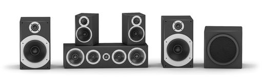 Speakers set Royalty Free Stock Image