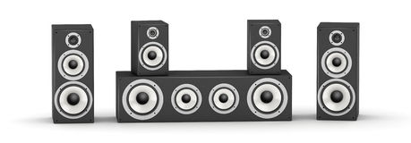 Speakers set Royalty Free Stock Images