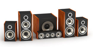 Speakers set Stock Photo