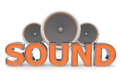 Speakers Sound - Orange Royalty Free Stock Photography