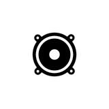 Speakers sound vector icon Royalty Free Stock Image