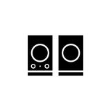 Speakers sound vector icon Stock Images