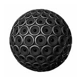 Speakers sphere. Three dimensional speakers sphere isolated on white Royalty Free Stock Photography