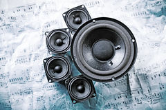 Speakers system Royalty Free Stock Images