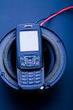 Speakers system on cellphone Stock Photography