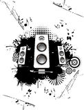 Speakers vector. Music abstract composition Stock Photos