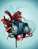 Speakers vector composition Stock Photos