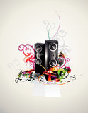 Speakers vector composition Royalty Free Stock Photos