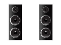Speakers vector isolated. On white vector illustration