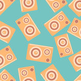 Speakers vector seamless pattern Royalty Free Stock Image
