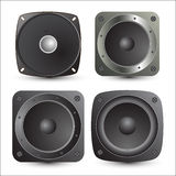 Speakers Vectors. Abstract Retro Music Sound Speakers Vector Set Royalty Free Stock Photos